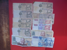 "LOT 13 BILLETS ""ITALIE"" NEUFS Et/ou CIRCULER - Monnaies & Billets"