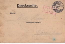 ALLEMAGNE  1923 CARTE DE BIEBRICH  GEBÜHR BEZAHLT - Allemagne