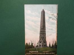 Cartolina Schuylerville - N.Y. - Saratoga Monument - 1906 - Cartoline