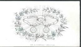 Carte Porcelaine  F Charlier  / G Leclercq Et Leurs Parents Premier Prix D'excellence  Gand  8,5 X 5 Cm - Gent