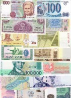 Europe Lot 15 UNC Banknotes - Banknotes