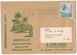 AO59    SPAGNA 1970 - Lettera Per La Germania Da Ceuta - 1931-Oggi: 2. Rep. - ... Juan Carlos I