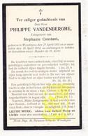 DP Philippe VandenBerghe ° Wenduine De Haan 1835 † 1914 X Stephanie Constant - Images Religieuses