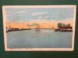 Cartolina Entrace To Harbor - St Joseph - Mich - 1924 - Cartoline