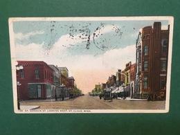 Cartolina St. Germain St Looking West - St.Cloud - Minn - 1917 - Cartoline