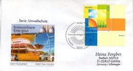 """BRD Schmuck-FDC  """"Umweltschutz: Erneuerbare Energien Im Aufwind"""", Mi. 2378 ESSt 8.1.2004 BONN - BRD"""