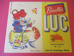 Buvard/Biscottes/LUC//CHATEAUROUX/400 Gr/Ourson Canoteur/ SOFOGA//Vers 1940-60  BUV397 - Zwieback