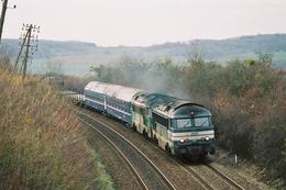 Saulx (70 - France) 22/11/2003 - Les A1A A1A 68046 & 68538 En Tête Du Train Fret 55023 Le Bourget/Mulhouse Nord - France