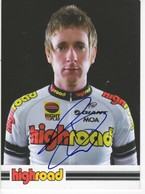 Bradley  Wiggins  Signee  High Road - Radsport