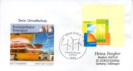 """BRD Schmuck-FDC  """"Umweltschutz: Erneuerbare Energien Im Aufwind"""", Mi. 2378 ESSt 8.1.2004 BERLIN ZENTRUM - BRD"""