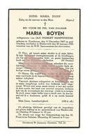 D 693. MARIA BOYEN Echtg. J. Kempeneers - °ZOUTLEEUW 1867 / + BINDERVELD 1939 - Images Religieuses