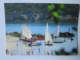 Port Manech. L'ecole De Voile Sur La Plage. JOS 99190 Postmarked 1990. Dans L'etat! - Autres Communes