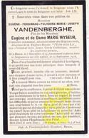 DP Gemeenteraadslid Directeur Fanfare L'Echo De La Lys - Eugène F. VandenBerghe ° Menen Menin 1879 † 1916 X M. Wyseur - Images Religieuses