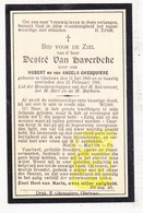 DP Desiré Van Haverbeke / Ghesquiere ° Geluwe Wervik 1840 † 1916 - Images Religieuses