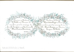 Carte Porcelaine  GAND Mariage De Valck / Maertens 13 X 9 Cm - Gent