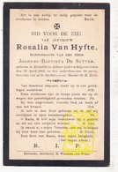 DP Rosalie Van Hyfte ° Ertvelde Evergem † 1903 X JB. De Sutter - Images Religieuses