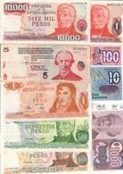 Argentina Lot  7 Banknotes - Argentina