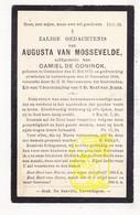 DP Augusta Van Mossevelde ° Oostakker Gent 1873 † Lovendegem 1910 X Camiel De Coninck - Images Religieuses