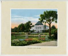 USA California SAN FRANCISCO Golden Gate Park Museum Antique Color Print 1914 - Prints & Engravings