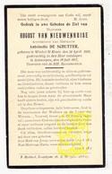 DP August Van Nieuwenhuise ° Sint-Kruis-Winkel Gent 1851 † Antwerpen 1917 X Ant. De Schutter - Images Religieuses