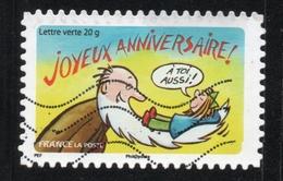 JOYEUX ANNIVERSAIRE FRANCE 2014 Yvert Tellier No. A1055 Timbre Usagee - France