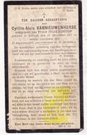 DP Cyrille A. VanNieuwenhuyse ° Kortrijk 1851 † 1916 X Julie DeStoop - Images Religieuses