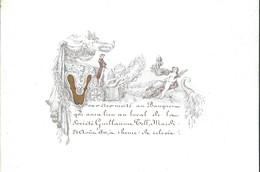 Carte Porcelaine Banquet De La Société Guillaume Tell 1841 15 X 11 Cm - Gent