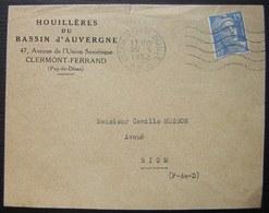 Clermont-Ferrand 1952 (Puy De Dôme) Houillères Du Bassin D'Auvergne - Postmark Collection (Covers)