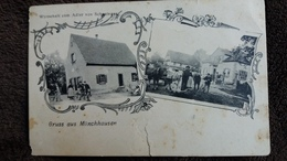 CPA GRUSS AUS MUNCHHAUSEN WIRTSCHAFT ZUM ADLER VON SCAUINGER 1940 ED VICTORS KUNSTVERLAG  2 EME CHOIX - France