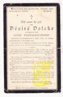 DP Désiré Volcke ° Kortemark 1839 † 1907 X Lucie VanMackelbergh - Images Religieuses