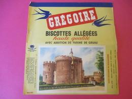 Buvard/Biscottes/GREGOIRE/Biscottes Allégées/Farine De Gruau/Château Lignac/Indre/Levallois-Perret//Vers 1940-60  BUV400 - Zwieback