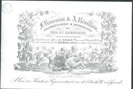 Carte Porcelaine Rousseau Et Révillon Vins Lille , Bordeaux Et Représentant Coone Et Casier à Gand 12 X 8 Cm - Gent
