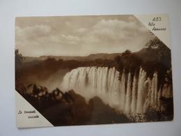 """Cartolina """"A.O.I. Nilo Azzurro LE TONANTI CASCATE""""  Foto Edizione Gilli, Gondar Anni '30 - Etiopia"""