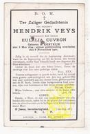 DP Hendrik Veys ° Kortrijk 1844 † 1901 X Eulalie Cuvron - Images Religieuses