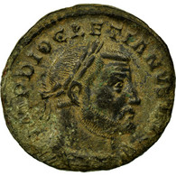 Monnaie, Dioclétien, Follis, Trèves, TTB, Billon, RIC:524a - 6. La Tétrarchie (284 à 307)
