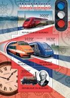 MVT-BK1-543 MINT PF/MNH ¤ BURUNDI 2012 4w In Serie ¤ HISTORY OF TRAINS - CHEMINS DE FER EISENBAHN FERROVIE - Trains
