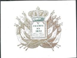 Carte Porcelaine Belgique CHARTRE DE 1830   9,5 X 7 Cm  Royauté - België