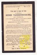 DP Henri VandenBussche ° Dottignies Dottenijs Moeskroen 1845 † 1901 - Images Religieuses