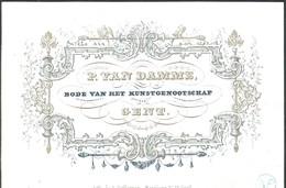 Carte Porcelaine Van Damme Bode Van Het Kunstgenootschap  Gent / Gand 13 X 8,5 Cm - Gent