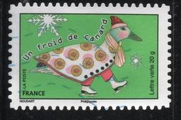 UN FROID DE CANARDS FRANCE Timbre Usagee - France