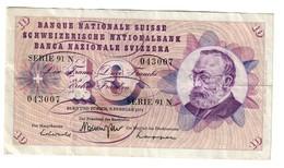 Switzerland 10 Francs 07/02/1974 - Suiza