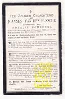 DP Joannes Vanden Bussche ° Moerkerke 1828 † Sijsele 1905 X Rosalie Bomberna / Damme - Images Religieuses