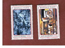 SAN MARINO - UNIF. 1201.1202  - 1987  BIENNALE D' ARTE: DIPINTI (SERIE COMPLETA DI 2)      -    MINT** - San Marino