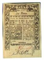 USA Rhode Island 6 Pence 1786 Reproduction - Etats-Unis