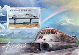 MVT-BK2-492 MINT PF/MNH ¤ BURUNDI 2012 BLOCK ¤ HISTORY OF TRAINS - CHEMINS DE FER EISENBAHN FERROVIE - Trains