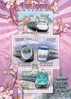 MVT-BK2-533 MINT PF/MNH ¤ BURUNDI 2012 4w In Serie ¤ HISTORY OF TRAINS - CHEMINS DE FER EISENBAHN FERROVIE - Trains