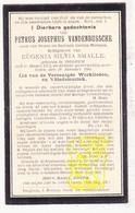 DP Petrus J. VandenBussche / Mistiaen ° Izegem 1873 † 1901 X Eugenia S. Smalle - Images Religieuses