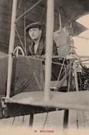 ROUGIER Assis Dans Son Avion - Aviateurs