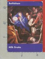 CARTOLINA VG ISRAELE - BETHLEHEM - Milk Grotto - 12 X 17 - ANN. 2004 CENTENARIO FIFA - Israele