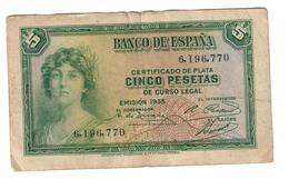 Spain 5 Pesetas 1935 - 5 Pesetas